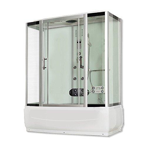 Home Deluxe - Duschtempel - Diamond BIG weiß - Maße: 190 x 100 x 220 cm - inkl. Whirlpool und Dampfsauna