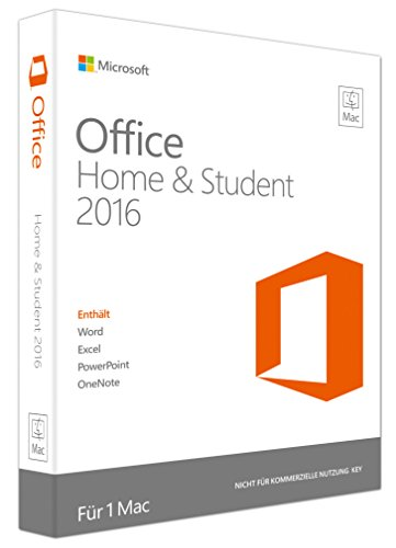 Preisvergleich Produktbild Microsoft Office Mac Home and Student 2016 (Product Key Card ohne Datenträger)