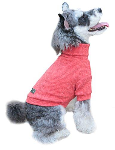 Gyapet Hund Pullover Rollkragen Reinigungstuch Coat Shirt Warm Winter Kalt Weihnachten für Kleine Medium Pet, FB2(Bulldog)-Body Length 15