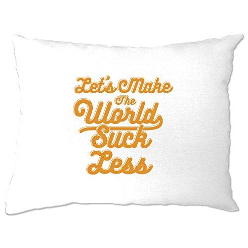 Tim And Ted Positiv Kissenbezuge Lassen Sie Uns die Welt saugen Weniger Slogan White One Size