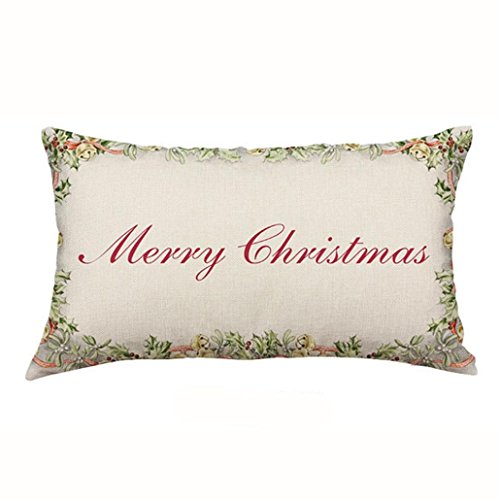 Pillow Case, Ammazona 3050CM Sofa Bed Home Decor Christmas Rectangle Cotton Linter Pillow Case Cushion Covers (c)