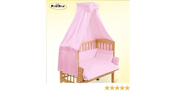 Fabimax textile ausstattung für beistellbett amelie rosa teilig