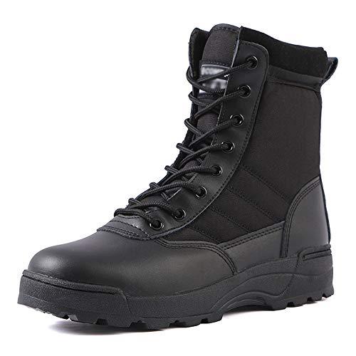 CharmShan Magnum Boots,Kampfstiefel Einsatzstiefel Taktische Outdoor-Bergschuhe, schnell trocknende, leichte, atmungsaktive High-Top-Wüstenstiefel,Black-41(UK7.5) -