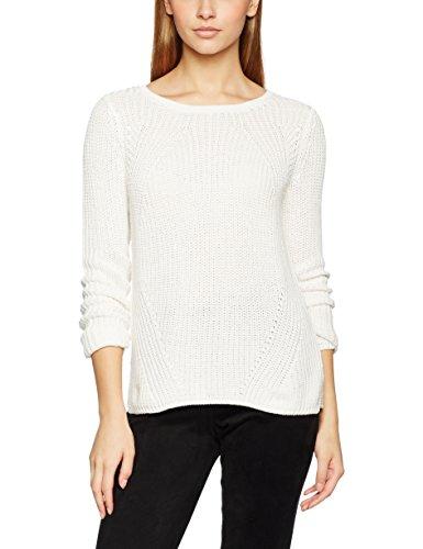 ONLY Damen Pullover onlCIRA L/S KNT, Weiß (Cloud Dancer) Medium (M)