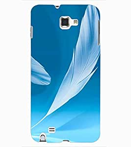 ColourCraft Lovely Feathers Design Back Case Cover for SAMSUNG GALAXY NOTE 1