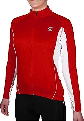 Piu Miglia Full Zip Thermal Long Sleeve Ladies Red Cycling Jersey PM2216 by Piu Miglia