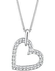 Elli Damen-Kette mit Anhänger Herz 925 Sterling Silber Swarovski Kristall weiß Brillantschliff 0103731612_45