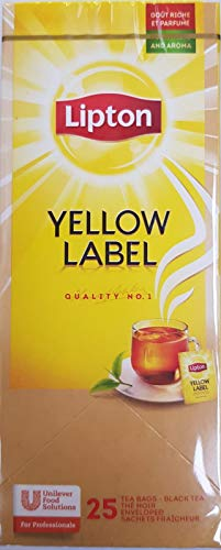 LIPTON 6 boxes Yellow Label Finest Black Tea Blend of Individually Wrapped Tea Bags 25 teabags per box from the Indianteacompany
