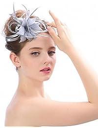 LJ Sombrero - Damas otoño e Invierno Tocado Sombreros de Novia Europeos y  Americanos British Elegante ef50e7a19f2c