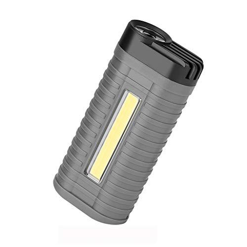 Dicomi 2 Modi COB LED Arbeitsleuchte Notlichtlampe Staubdicht Batteriebetriebener Heckschalter für Autoreparatur, Wandern, Camping, Nachtangeln, (9,7x4,5x2,5 cm) Grau -