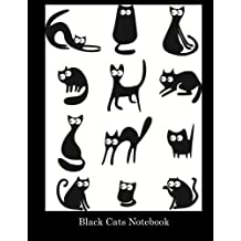 Black Cats Notebook: 100 pages, lined