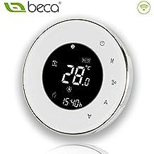 BECA 95 ~ 240VAC Tubo de cuatro WiFi programable redondo pantalla táctil termostato de aire acondicionado