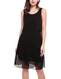 fd2404ec3f4f Suchergebnis auf Amazon.de für: Chiffonkleid mit Volants: Bekleidung