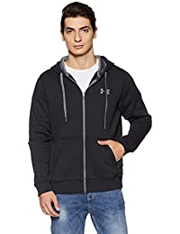 Under Armour Men Rival Fitted Full Zip Warm-Up Hoodie