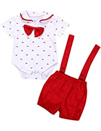 Ropa para Bebe,RETUROM 2 Piezas bebés bebés niños de Manga Corta Mameluco Ropa + Pantalones del niño establecen Conjuntos