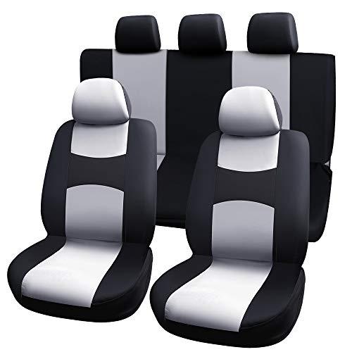 Coprisedili per auto Set completo anteriore e posteriore completo di poggiatesta Coprire Accessori interni per auto Adattabile con Airbag compatib