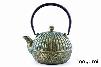 teayumi–yini Théière en fonte 0,9l, vert sur Doré