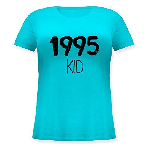 Geburtstag - 1995 KID - Lockeres Damen-Shirt in großen Größen mit Rundhalsausschnitt Türkis