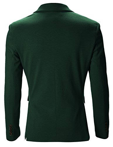 FLATSEVEN Giacche Blazer Slim Fit Casual Premium Uomo Verde