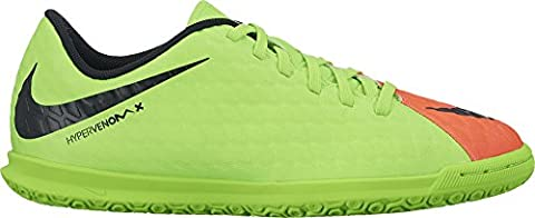 Nike Unisex-Kinder Jr. Hypervenomx Phade 3 Ic Fußballschuhe, Grün (Elctrc Green/Black-Hyper Orange-Volt), 36.5 EU