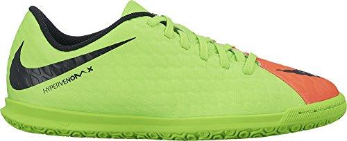 Nike Jr. Hypervenomx Phade 3 Ic, Chaussures de Football Mixte Enfant Vert (Elctrc Green/blk/hypr Orng/vlt)