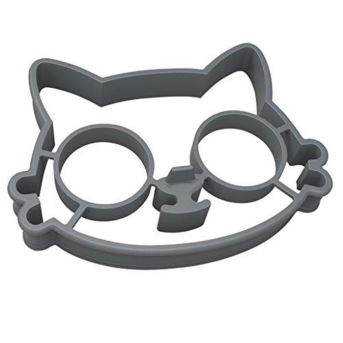 MagiDeal Niedlich Silikon Spiegeleiform Eierformen Spiegeleiformen für Pfanne Frühstück - Katze