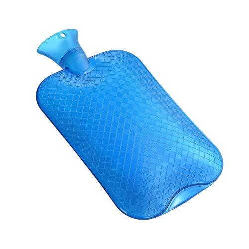 KUFL XXL 3L Wärmflasche blau gegen Menstruationsbeschwerden, Rückenschmerzen, Kälte und Magenschmerzen
