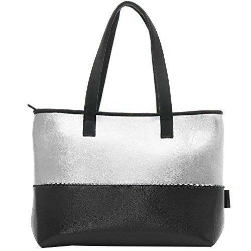 WARUDA LANE Damen Schultertasche Mädchen Handtaschen Soft Premium Leder & Nylon Bowling Bag Hobos Hochwertige Leichte Einkaufstasche Einkaufstaschen Wasserdichte Top-Griff Taschen Strandtasche