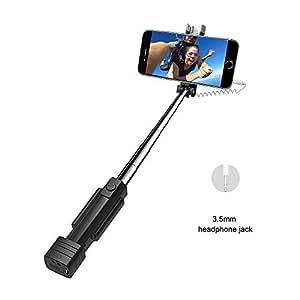 4d428041a21ead Atongm Mini Selfie Stick, Extendable Mini Wire Selfie Stick for iphone 4/4s/
