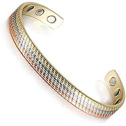 """Joyería Wollet 6,5""""cobre pulsera para mujer la artritis terapia magnética (6imanes)"""