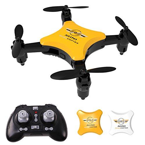 Mini Faltbare Drohne, RC Quadcopter mit Headless Modus , 2,4 Ghz, One Key Start/Landung, Pocket drohne für Anfänger und Kinder ab 14, Geschenke für Jungen und Mädchen, Weiß (Faltbare Drohne) -
