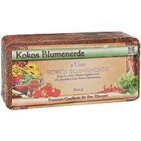 Humusziegel Anzuchterde Aussaaterde 600g Kokosziegel - torffrei u. ungedüngt - Anzuchtsubstrat für Samen, Kräuter, Pflanzen, Blumen - Kokosblumenerde