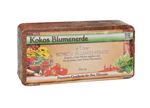 Erde Kräuter (Humusziegel Anzuchterde Aussaaterde 600g Kokosziegel - torffrei u. ungedüngt - Anzuchtsubstrat für Samen, Kräuter, Pflanzen, Blumen - Kokosblumenerde)