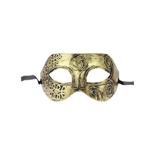 Griechische Muster Kostüm - Gleader Gold-Ton lateinischen oder griechischen Herren venezianischen Halloween-Kostuem-Party Maskerade Maske
