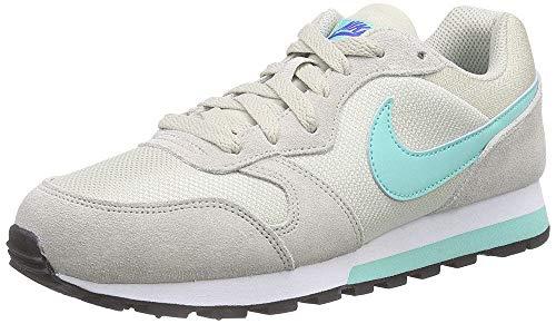 Nike Damen MD Runner 2 Laufschuhe Helles Braun-Beige/Hyper Türkis-Racer Blue/Weiß 034, 38.5 EU