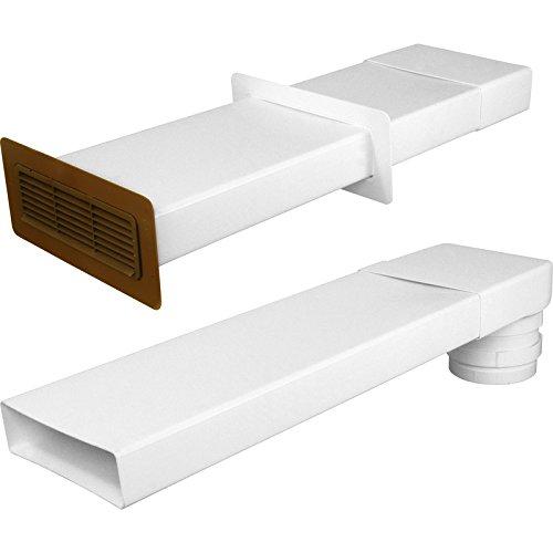 204mm piatto canale cappa kit 3m-marrone