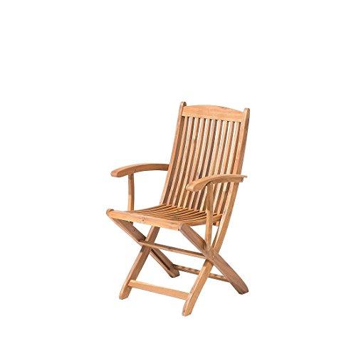 Chaise de jardin avec accoudoirs en bois acacia Maui