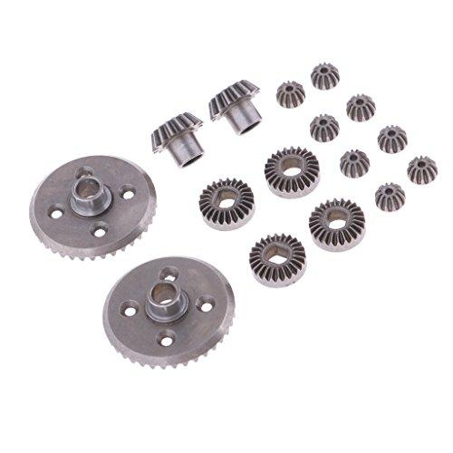 B Blesiya 16er-Set Differentialgetriebe Getriebe für 1/18 Wltoys RC Car Parts