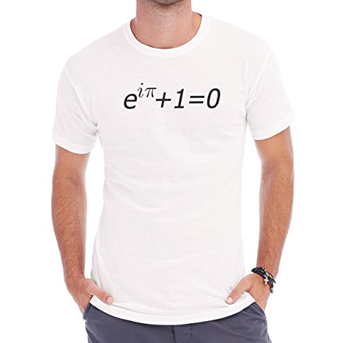 Number Math Symbol Calculus Equations Pi One Zero Herren T-Shirt Weiß