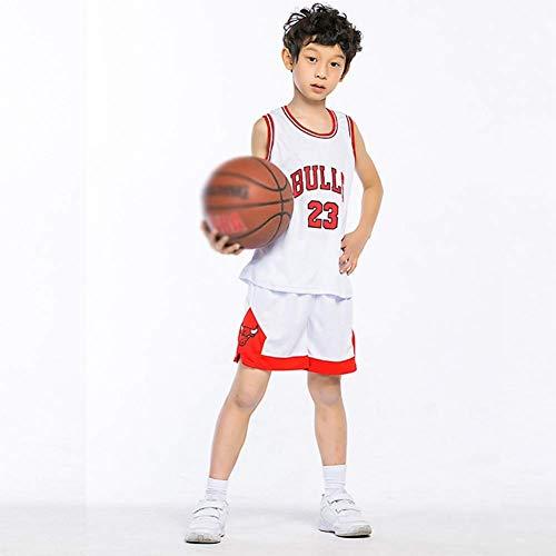 NBA Nr.23 Bulls Jordan Lakers James Nr.30 Warriors Curry Nr.11Warriors Thompson Nr.35 Warriors Durant Kinder Basketballanzug Basketball Trikots Jersey Set für Kid Jungen Mädchen (C, M(130-140cm))
