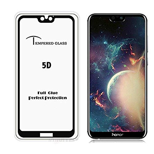 Rexez 6D Tempered Glass with Curved Edges and 9H Hardness - Full Glue Edge-Edge Screen Protection for Honor 9N (Black)
