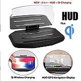 Laguna Black Wireless Qi Enabled Charging Universal Car Head Up Display HUD Image