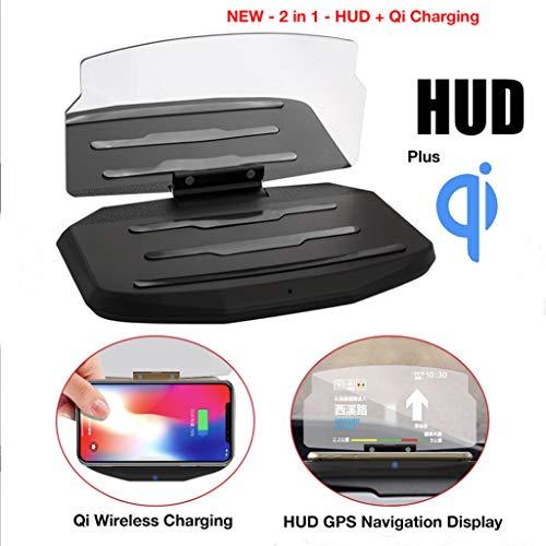Qi Wireless Universal Carga Head-up Display Coche