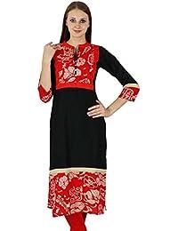 Rayon Bollywood Kurta Frauen Ethnischen Blumendruck Kurti Lässig Top Tunika -Kleid 2b52215a8a