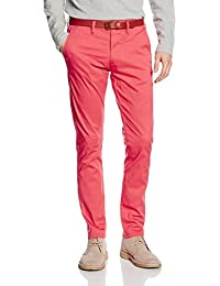 SELECTED HOMME Herren Hose Shhyard Spiced Coral Slim St Pants