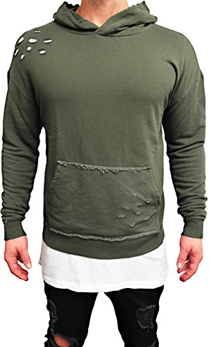 Oversize HOODIE Designer Sweat Jacke Cardigan Hoody Pullover Shirt Herren Camouflage Longsleeve m NEU Kapuzen-pullover long Sweatjacke...