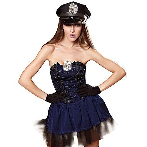 Police Kostüm Female Sexy - YIZHEN Sexy Dessous, Fun Uniformen Cosplay Female Police Uniformen Spiel Anime Kostüme, Halloween Funny Kostüme,M