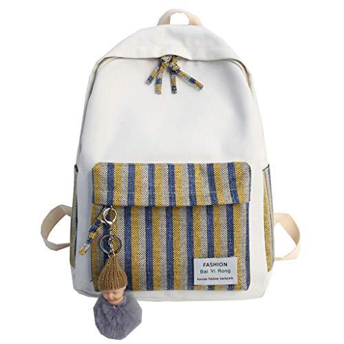 YliK Ancient Sense Girl Bag Version coréenne féminine de High School College Students Petit Sac à Dos Campus Frais Femme Sac à bandoulière Femme Toile
