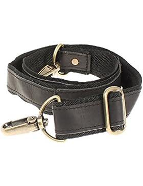 LECONI Trageriemen Leder Nylon Schulterriemen breiter Schultergurt für Taschen Umhängegurt längenverstellbar 4x150cm...