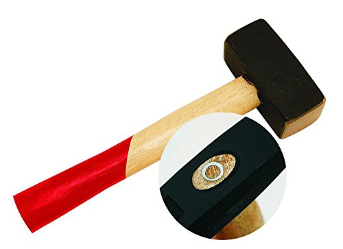 Fäustel 1000g Sicherheits Handfäustel abgerundet 1000 g Kopfgewicht ca. 252 mm Länge Komforgriff Stahlguss Kopf